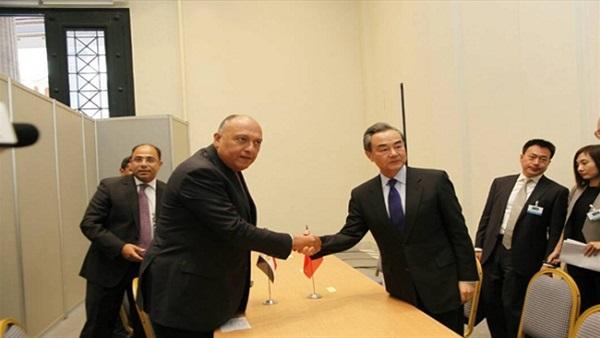 وزير الخارجية الصيني لـ«شكري»: مصر شريك هام في تحقيق مبادرة «الحزام والطريق»