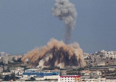 القصف الإسرائيلي علي غزة