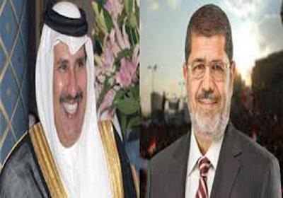 مرسي ورئيس وزراء قطر