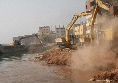 ازالة التعديات على نهر النيل