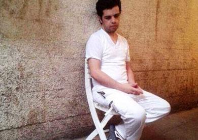 عبد الله الشامي أثناء إضرابه عن الطعام