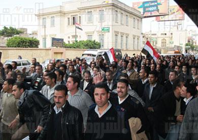 وقفة احتجاجية  سابقة لأمناء وأفراد الشرطة - تصوير: محمد نوهان