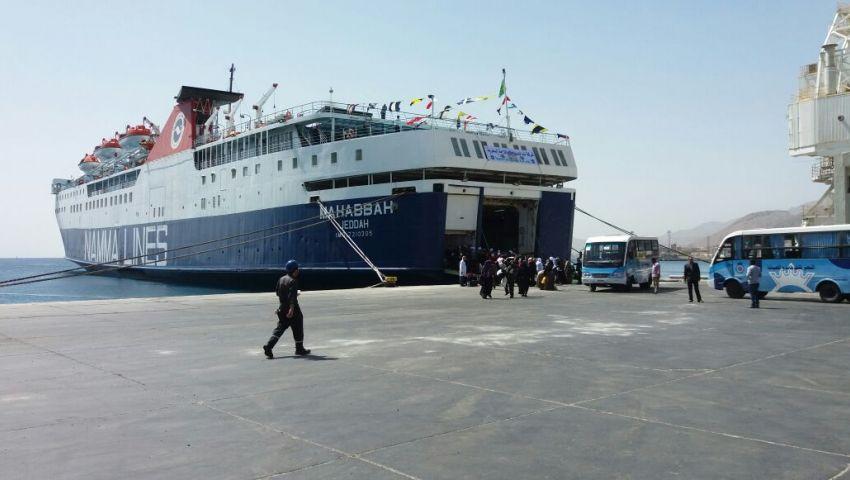 وصول وسفر 2396 معتمرا بموانئ البحر الأحمر
