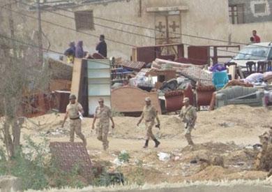 قوات الجيش في سيناء تنفيذًا لقرار إقامة المنطقة العازلة