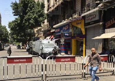 الأمن يغلق محيط «الصحفيين» - تصوير روجيه انيس