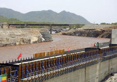 مراحل إنشاء سد النهضة الإثيوبي