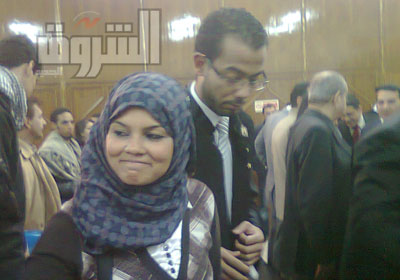 سميرة إبراهيم داخل المحكمة بعد الحكم - تصوير: لبنى وائل