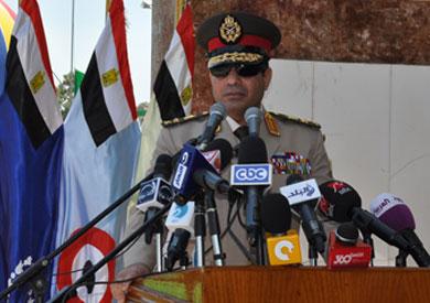 المشير عبدالفتاح السيسي وزير الدفاع القائد العام للقوات المسلحة