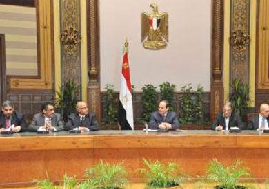 الرئيس السيسي في جانب من لقائه برؤساء تحرير الصحف