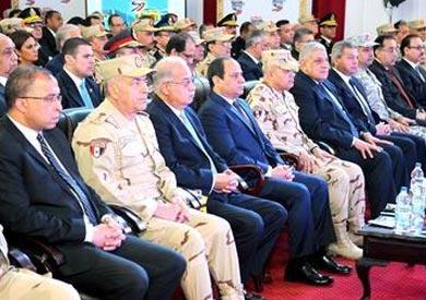 السيسى فى افتتاح مشلريع بمدينة السادس من اكتوبر