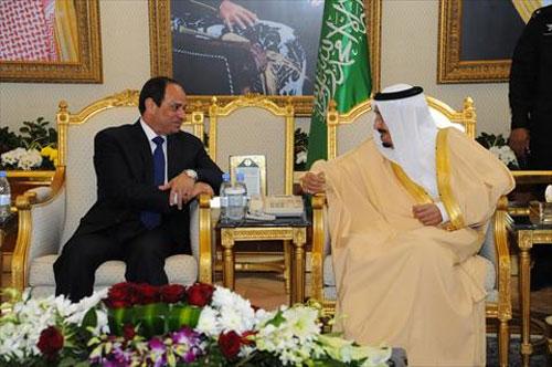 لقاء سابق بين الرئيس السيسي والملك سلمان