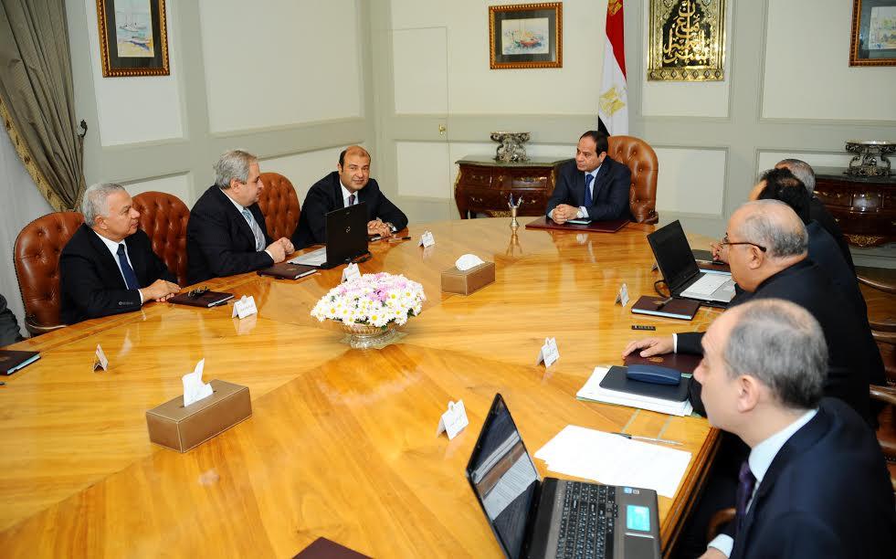 الرئيس يلتقي وزير التموين