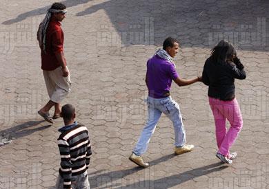 التحرش في شم النسيم - تصوير: أحمد عبد اللطيف