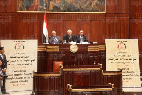 لجنة تقصى حقائق 30 يونيو - تصوير: محمد الميموني