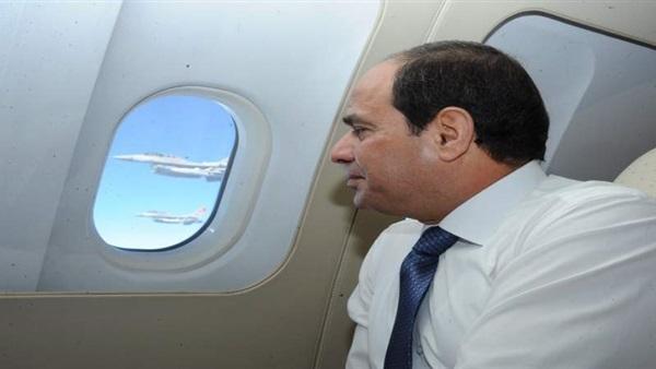 مقاتلات رافال فرنسية ومصرية ترافق طائرة الرئيس «السيسي» ترحيبا بزيارته لفرنسا