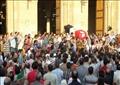 الآلاف يشيعون شهيد العريش بمسقط رأسه في البحيرة