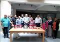 فريق جامعة حلوان الحاصل علي المركز الأول في الميكانيكا بملتقي الجامعات