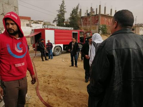 الدفاع المدني في بئر العبد بشمال سيناء