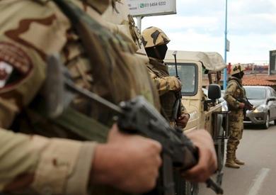 إصابة جندي في هجوم لمسلحين مجهولين على كمين للشرطة بالعريش