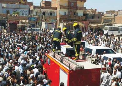 الفيوم تشيع جثامين 5 مجندين من ضحايا حادث بني سويف