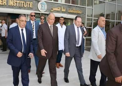 تفقد محافظ القاهرة لمصابي حادث معهد الأورام