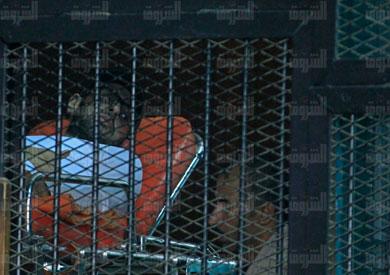 محمد سلطان فى القفص -تصوير لبنى طارق