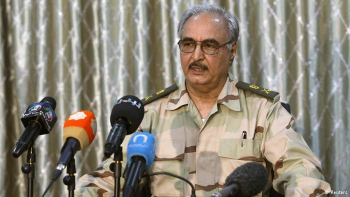 اللواء خليفة حفتر قائد الجيش الوطني الليبي