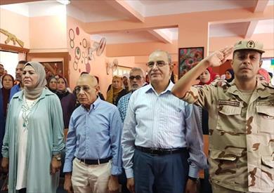 احتفالية إحدى المدارس بذكرى انتصارات أكتوبر