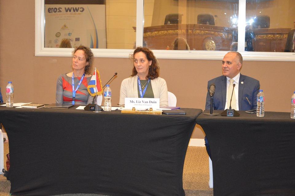 جانب من جلسات اجتماع المجلس الاستشاري المصري الهولندي للمياه<br/>