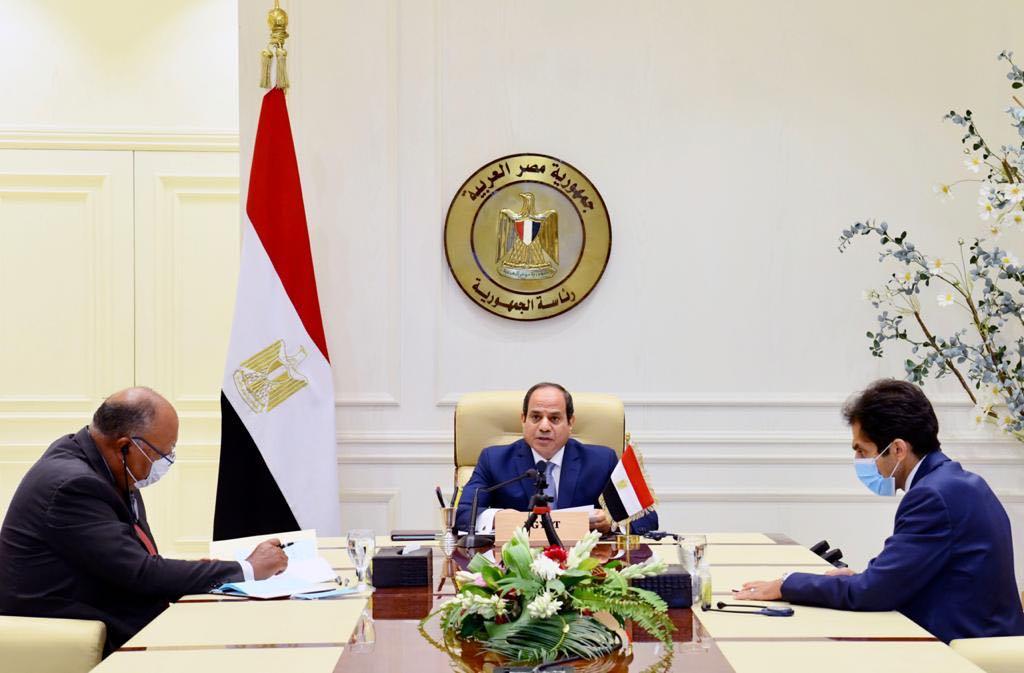 مشاركة الرئيس عبدالفتاح السيسي اليوم عبر الفيديو كونفرانس في المؤتمر الدولي لدعم لبنان