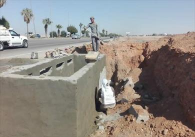 إنشاء بلاعات صرف للأمطار بمدينة العاشر من رمضان
