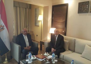 عبد العال يلتقى رئيس مجلس النواب الليبى