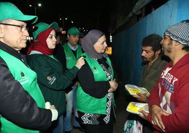 وزيرة التضامن مع المشردين