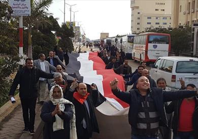أبناء كفرالشيخ يتوجهون إلى القاهرة لدعم الدولة