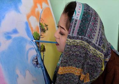 الفتاة الأفغانية ربابة المحمدى