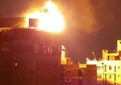 حريق هائل بفندق شهير بطنطا