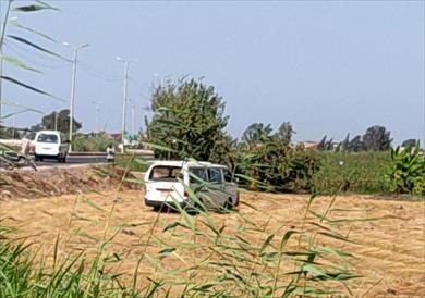 إصابة 5 أشخاص في حادث تصادم سيارة ميكروباص وملاكي بكفر الشيخ
