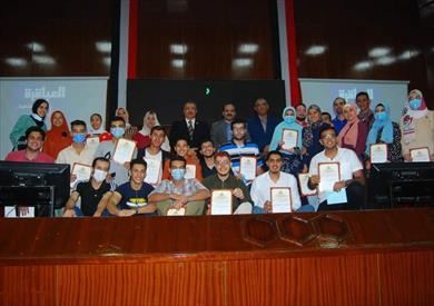 ختام فعاليات الموسم الثاني لمسابقة العباقرة في جامعة بنها