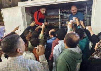 توزيع الخبز الفينو في الشرقية