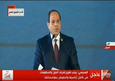 الرئيس عبد الفتاح السيسي خلال افتتاح المنتدى