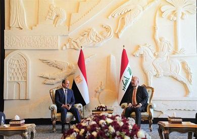 الرئيس السيسي يؤكد قوة ومتانة العلاقات المصرية العراقية