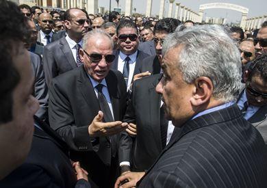 الزند في جنازة النائب العام هشام بركات