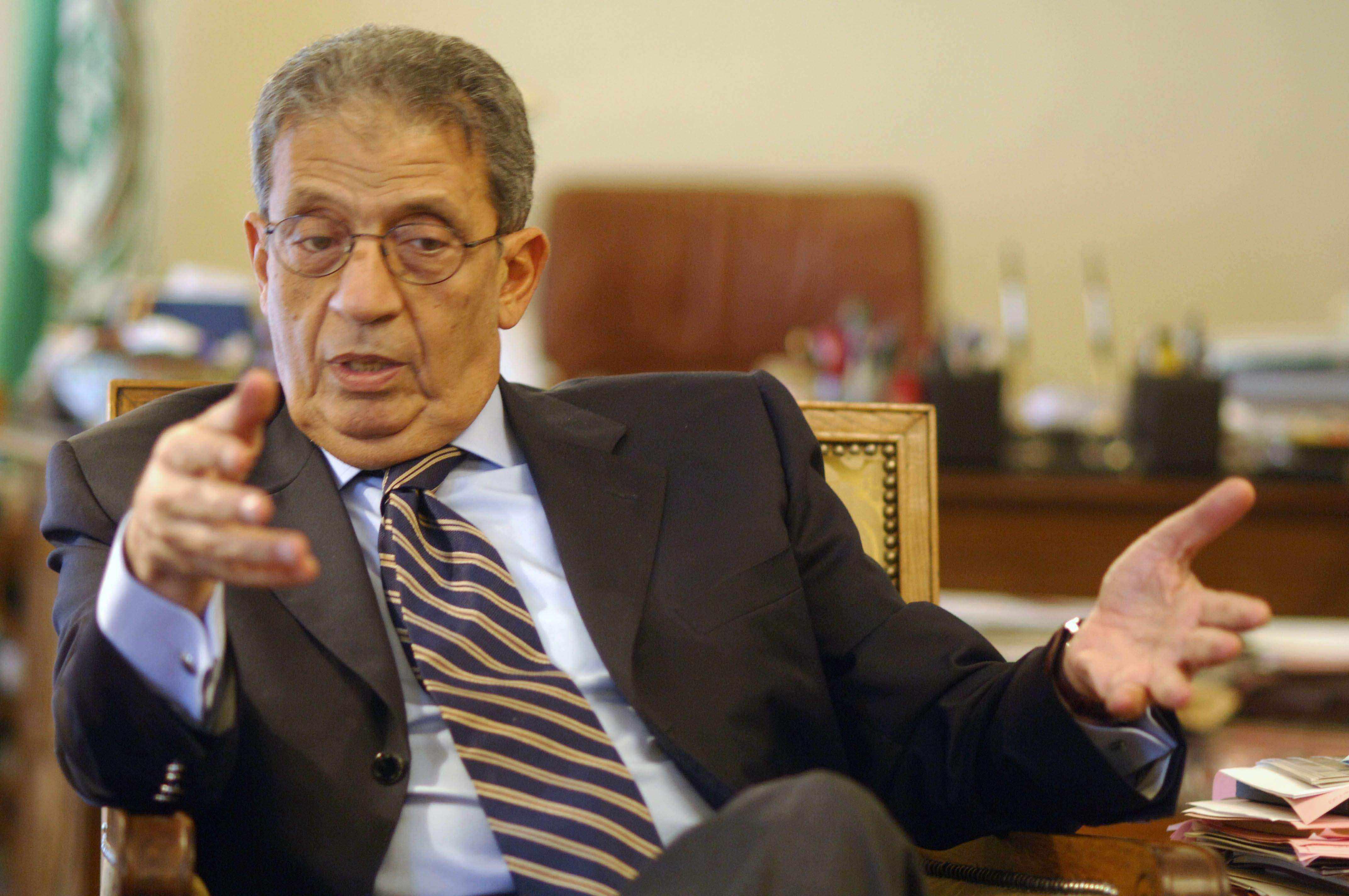 الأمين العام السابق لجامعة الدول العربية عمرو موسى