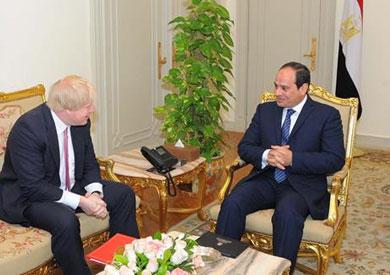 لقاء الرئيس مع وزير الخارجية البريطاني