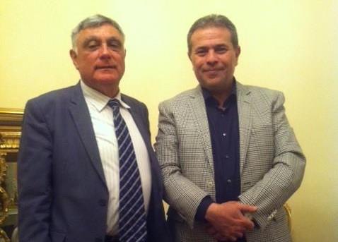 لقاء توفيق عكاشة مع السفير الإسرائيلي