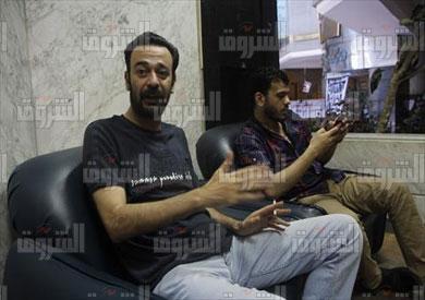عمرو بدر ومحمود السقا معتصمين بنقابة الصحفيين تصوير هبه خليفة