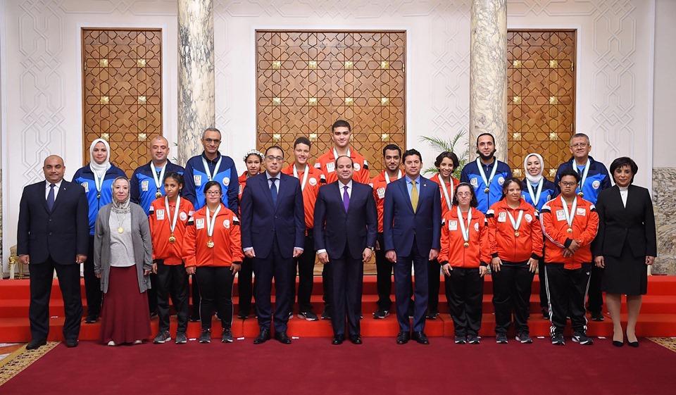 السيسي يستقبل المنتخب الوطني الأوليمبي