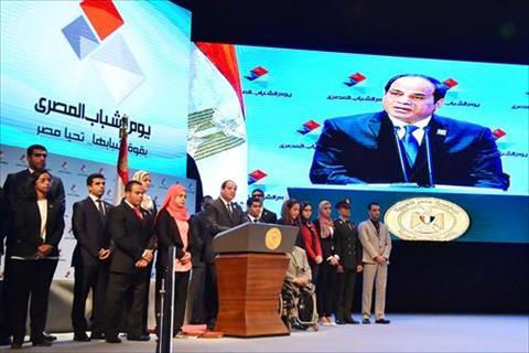 عبد الفتاح السيسى فى الاحتفال بيوم الشباب بدار الاوبرا المصرية