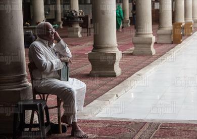 مسجد عمرو بن العاص - تصوير: إبراهيم عزت