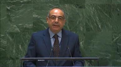السفير محمد إدريس مندوب مصر الدائم لدى الأمم المتحدة